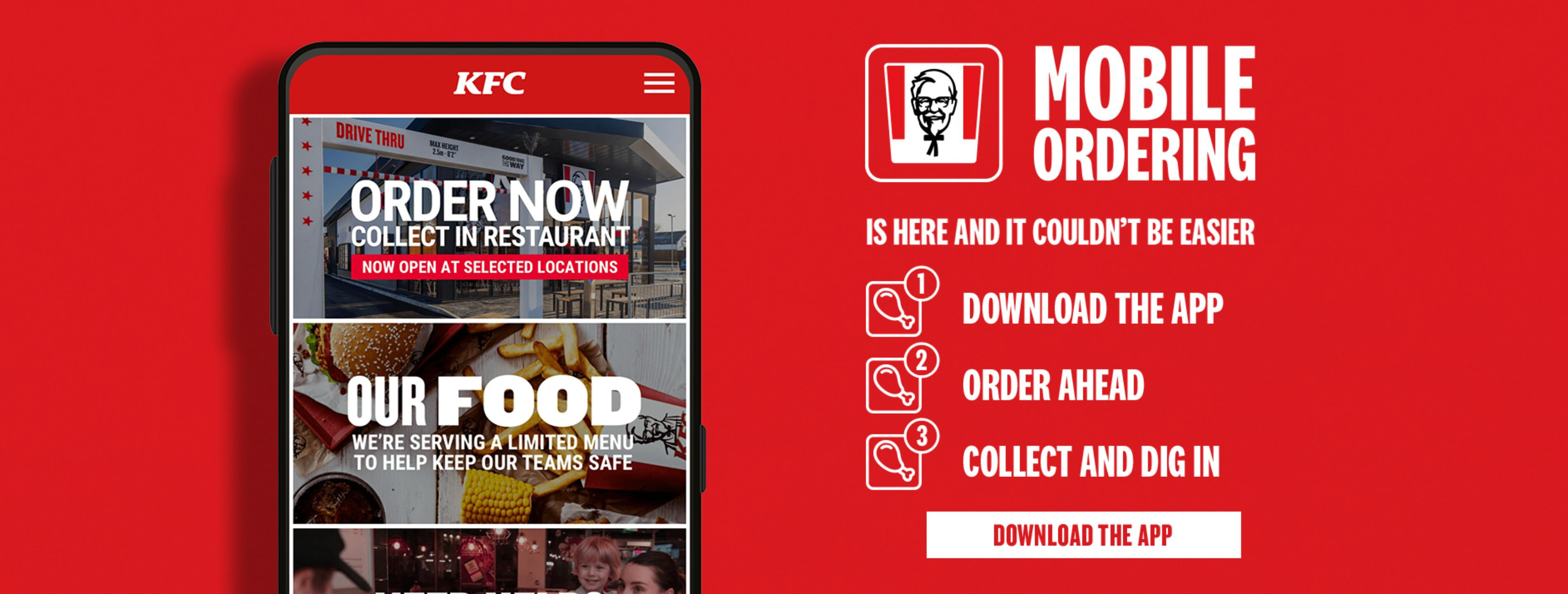 KFC MOBILE ORDERING IS HERE