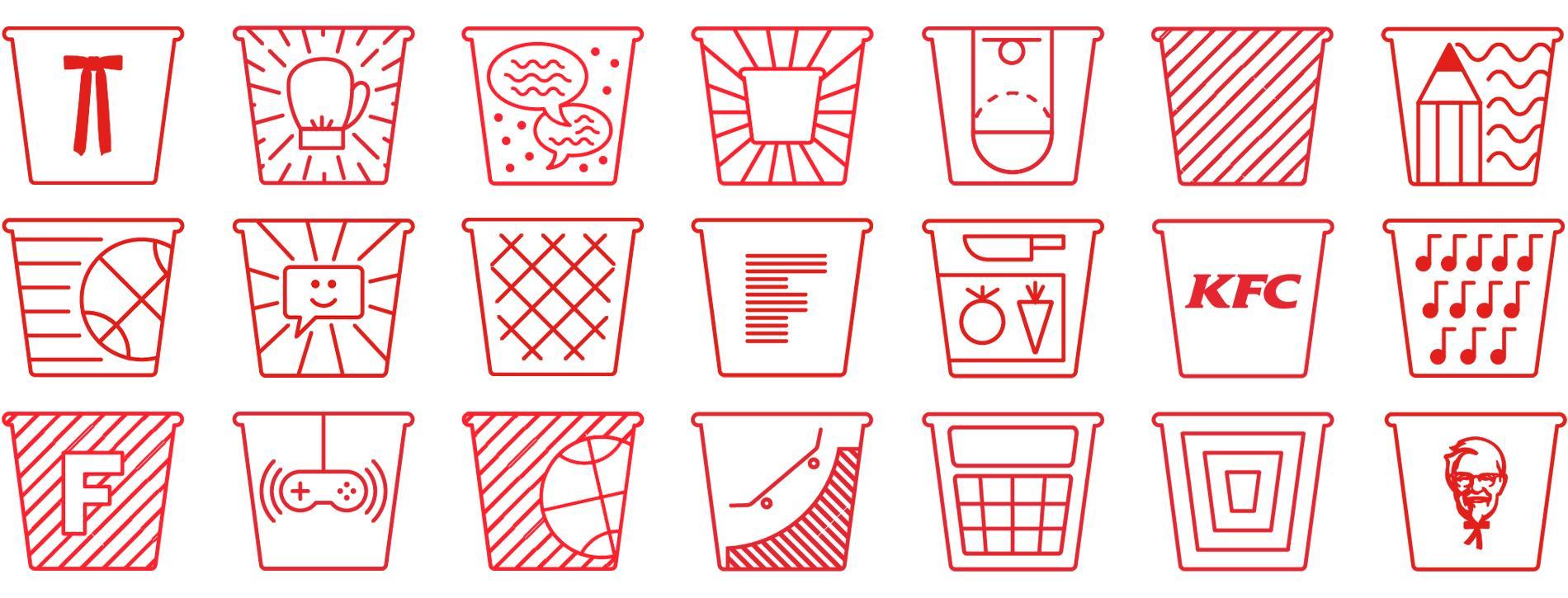 KFC bucket illustrations
